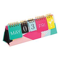 Eagles Perpetual Desk Calendar - See Jane Work® Perpetual Desktop Calendar, Black, January To December