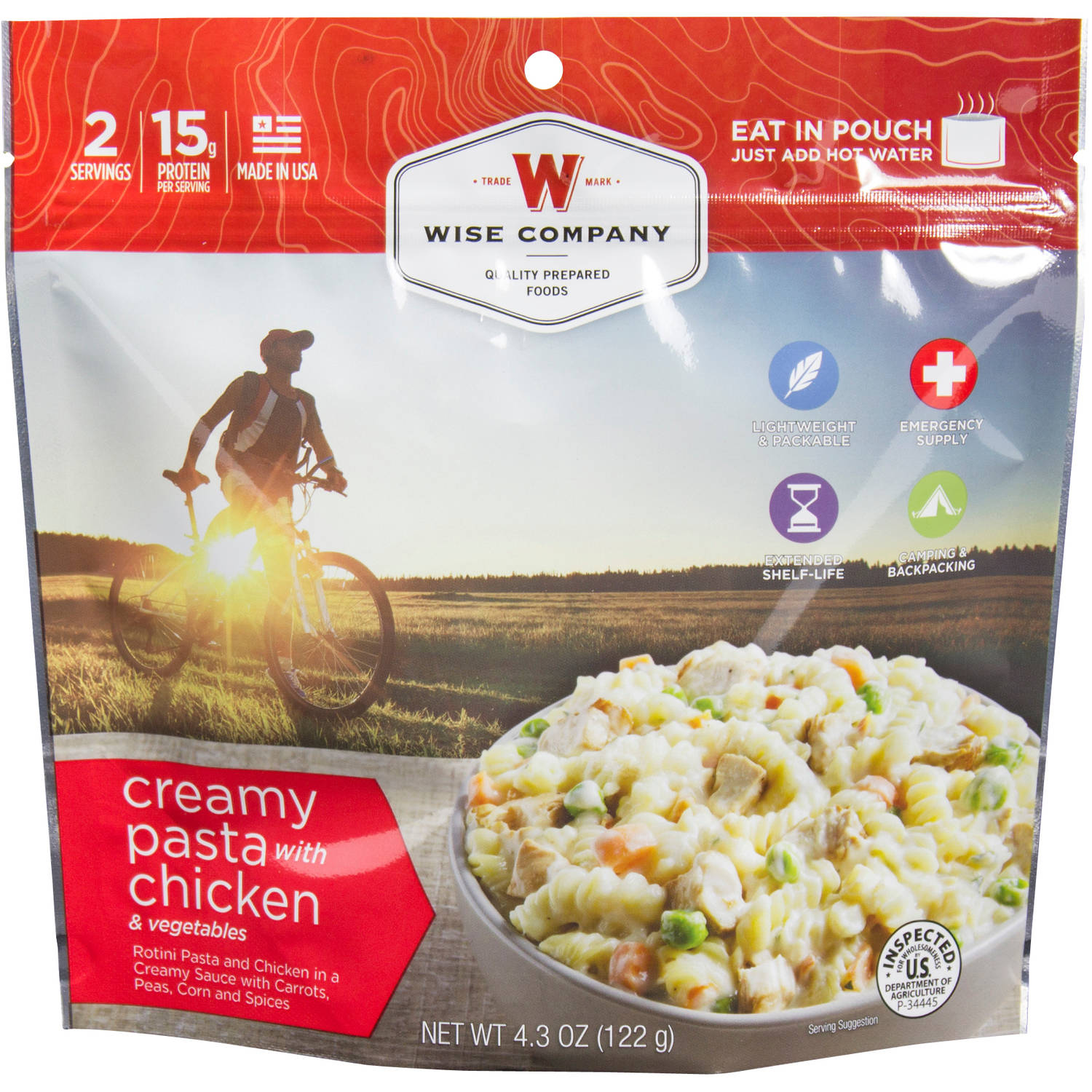 Wise Company Creamy Pasta with Chicken & Vegetables Prepared Meal, 4.3 oz
