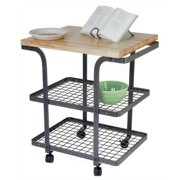 Baker's Cart with Hammered Steel Finish Frame