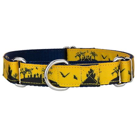 Country Brook Design® Halloween Night Ribbon Martingale Dog Collar