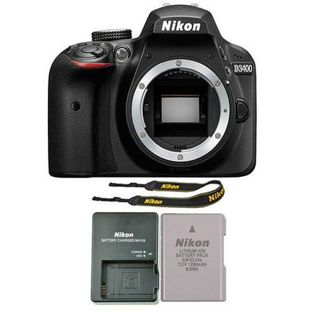 Nikon D3400 24MP Digital SLR Camera Body Only - (Best 24mp Dslr Camera)