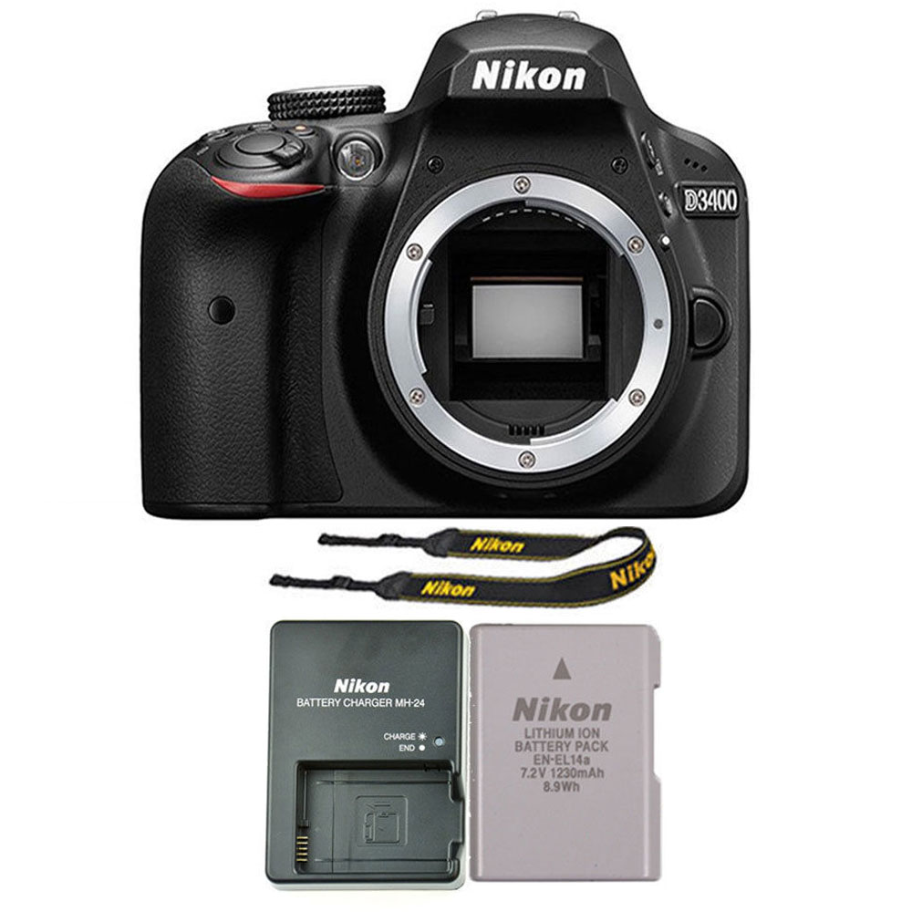 Nikon D3400 24MP Digital SLR Camera Body Only - Black