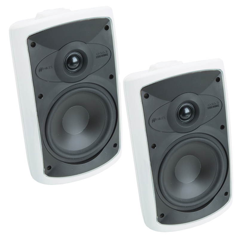 Niles OS6.3 White 2 - Way 6' Indoor / Outdoor Home Theater Speaker System (pair)