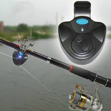 Electronic Fish Bite Sound Alarm LED Light Alert Bell Fishing Rod Clip-On Black by willingboy