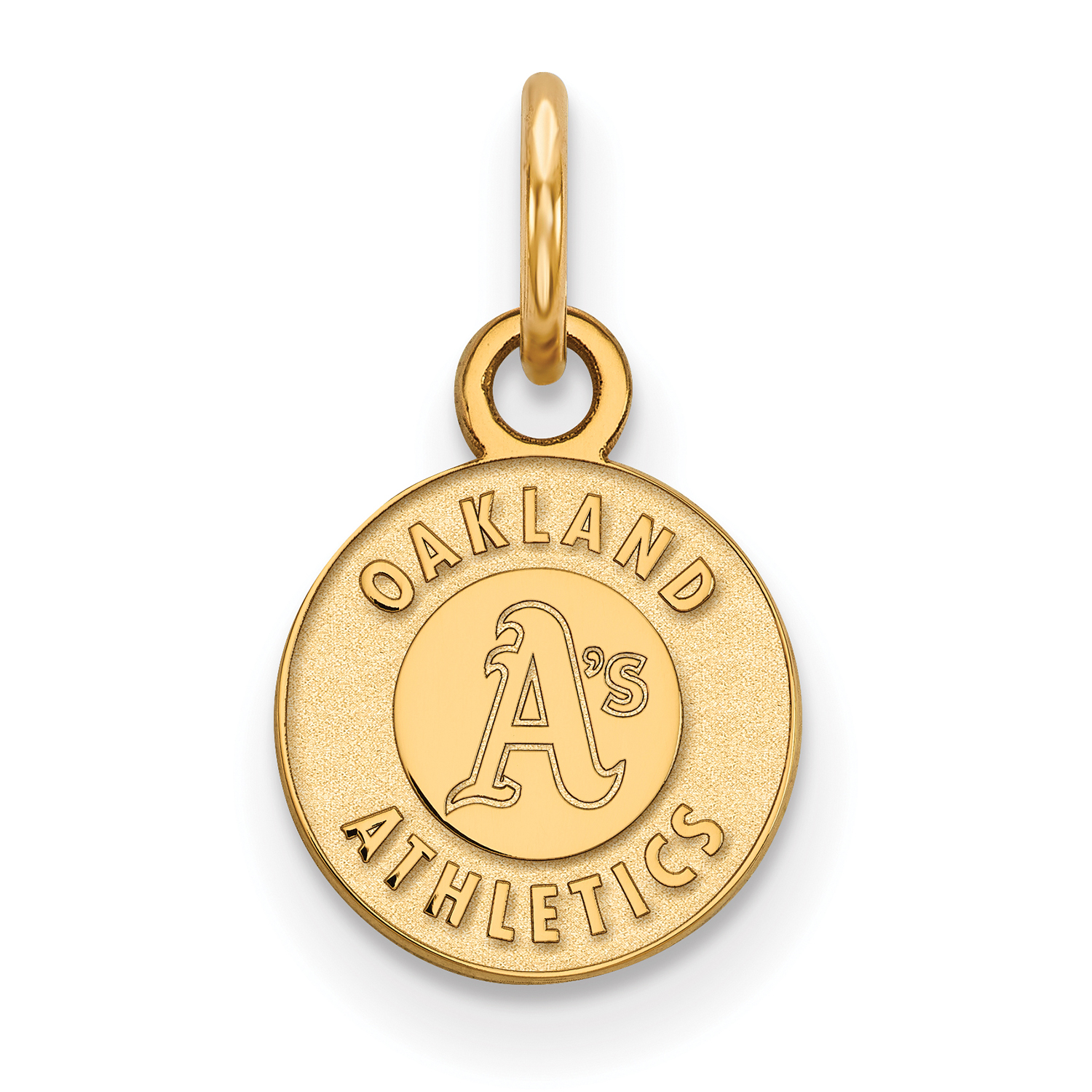 Oakland Athletics Women's Gold-Plated Sterling Silver Extra-Small Pendant - No Size