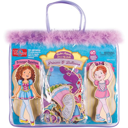 T.S. Shure Princess and Ballerina Wooden Magnetic Dress-Up - Princess Ballerina