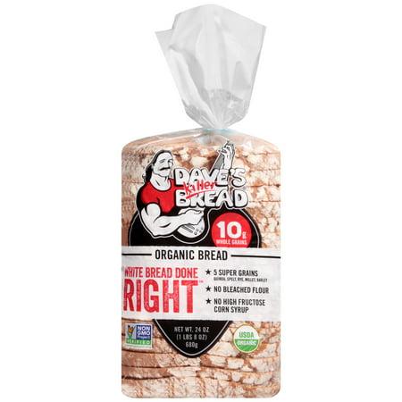 Daves Killer BreadR Organic White Bread Done RightTM 24 Oz Loaf