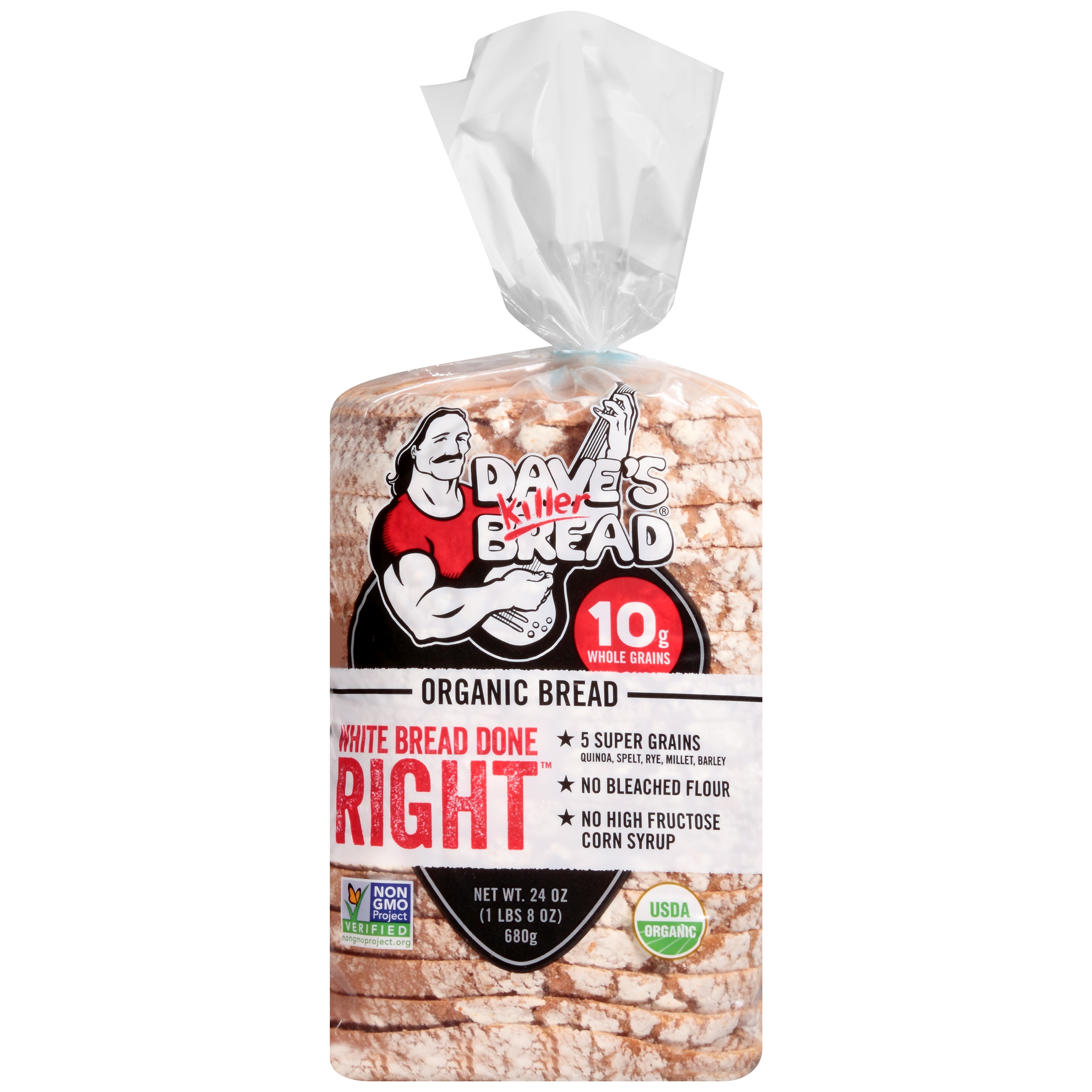 Dave's Killer Bread® Organic White Bread Done Right™ 24 oz. Loaf