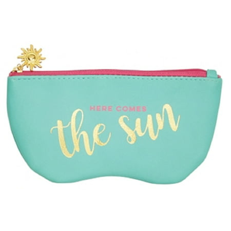 Icon Sunglass Case with Sun Charm in Teal (Here Comes the (Sun Glass Case)