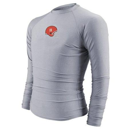 T-shirt moulant Intensity N6831035LRG - manches longues pour homme, argent- - Grand - image 1 de 1