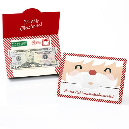 Jolly Santa Claus - Christmas Money and Gift Card Holders - Set of 8