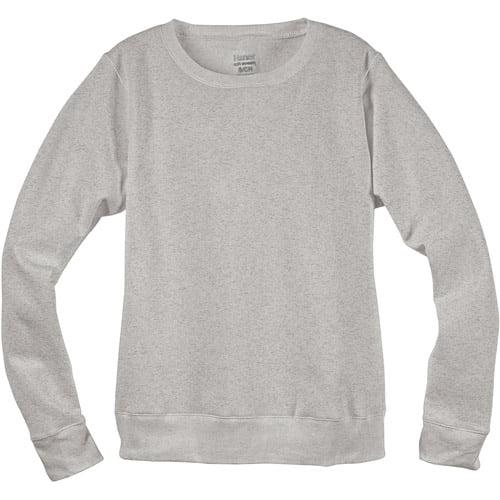 Hanes Women's EcoSmart Solid Fleece Crew Sweatshirt