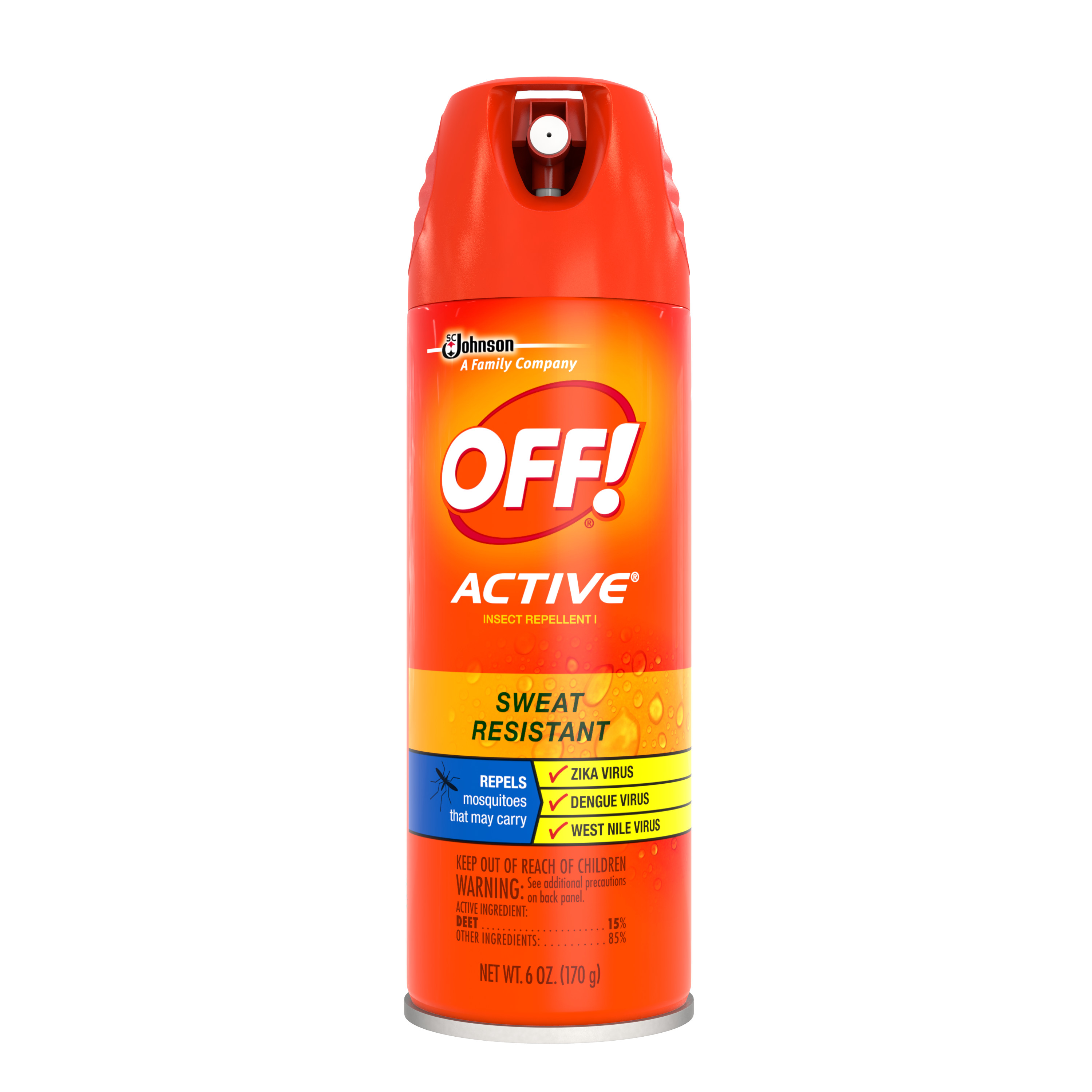 OFF! Active Insect Repellent I, 6 Ounces
