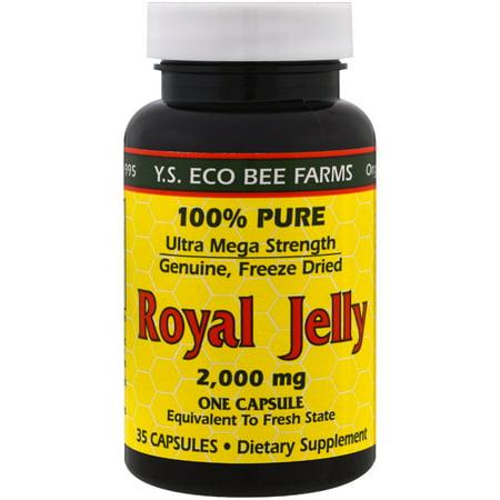 100% Pure Freeze Dried Royal Jelly 2,000 mg (Ultra Mega Strength) - 35 Capsules