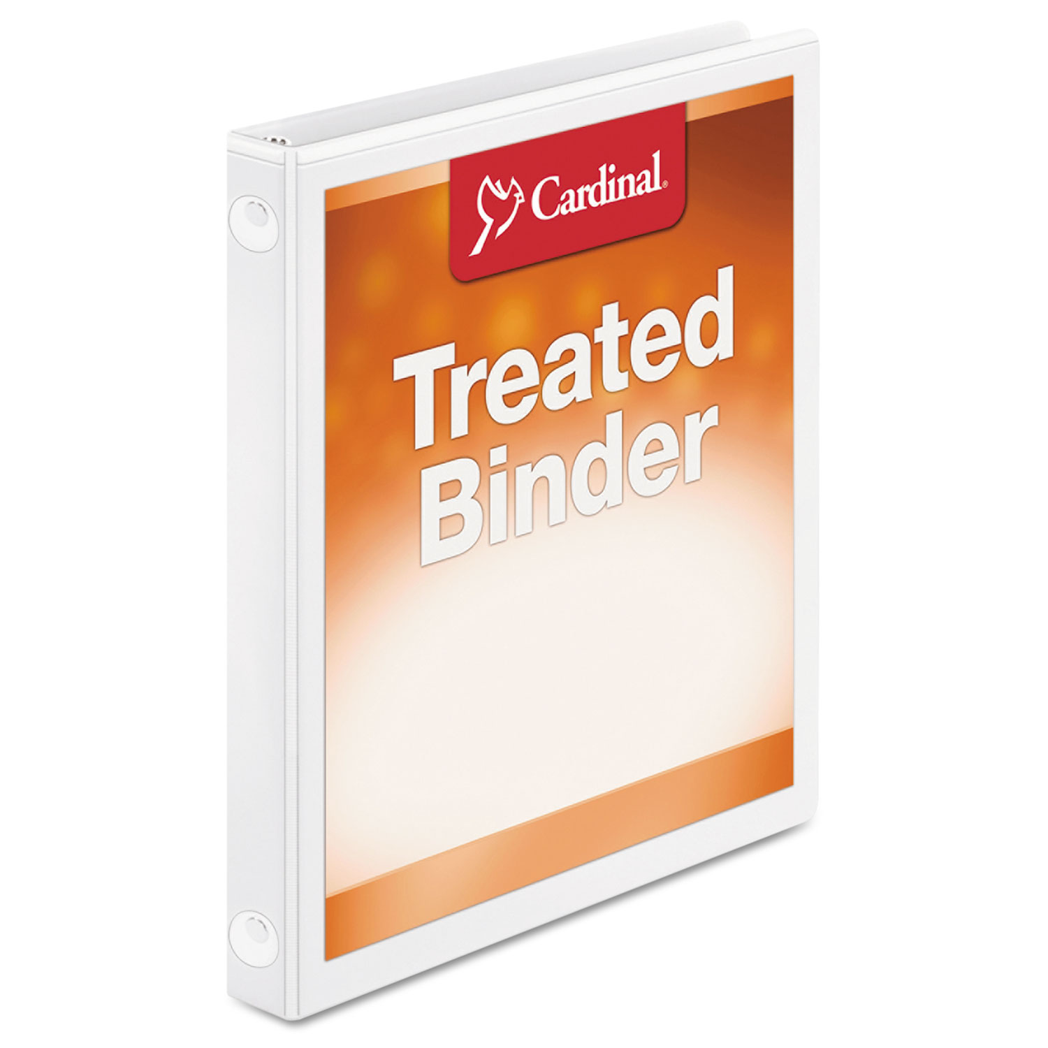 "Treated Binder ClearVue Locking Round Ring Binder, 5/8"" Cap, 11 x 8 1/2, White"