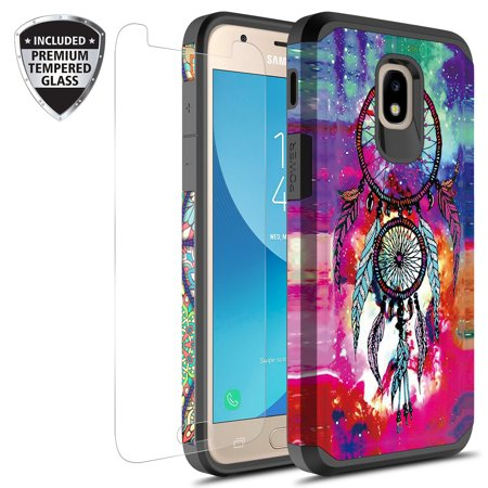 check out 2f2ea 920d3 Samsung Galaxy J3 Achieve Case, J3 Star Case, Galaxy Express Prime 3 Case,  J3 2018 Case, J3 V 2nd Gen. Case, Amp Prime 3 2018 Case With Tempered Glass  ...