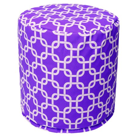 Majestic Home Goods Links Cotton Indoor Ottoman Pouf ()