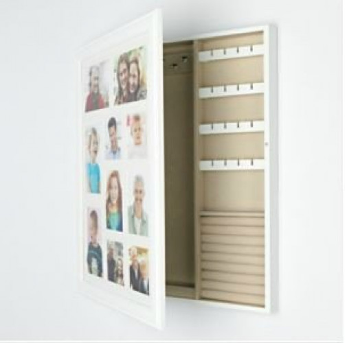Wood Collage Photo Frame Jewelry Wall Cabinet 2212h X 1656w X