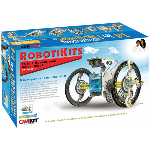OWI Robotikits 14-in-1 Educational Solar Robot Kit by Elenco Electronics