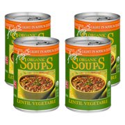 (4 Pack) Amy's Organic Soups Lentil Vegetable, 14.5 oz