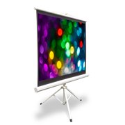 "Pyle PRJTP52 50"" Video Projector Screen, Easy Fold-Out & Roll-Up Projection Display, Tripod"