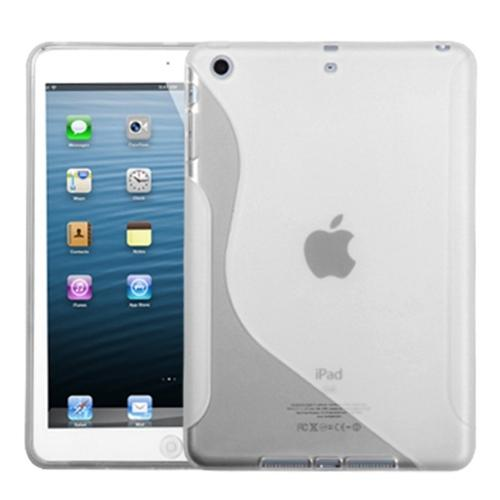 INSTEN Transparent Clear (S Shape) Candy Skin Case for APPLE: iPad Mini