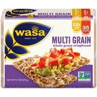 WASA Multi Grain Swedish Crispbread, 9.7 Ounce, All-Natural Multigrain Crackers, Non-GMO Ingredients, Fat Free, No Saturated Fat, and 0g of Trans Fat, No Cholesterol