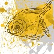 Marmont Hill Yellow Fish Irena Orlov Painting Print On Canvas