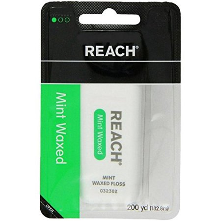 (Reach Mint Waxed Dental Floss, 200 Yards (Pack of 6))