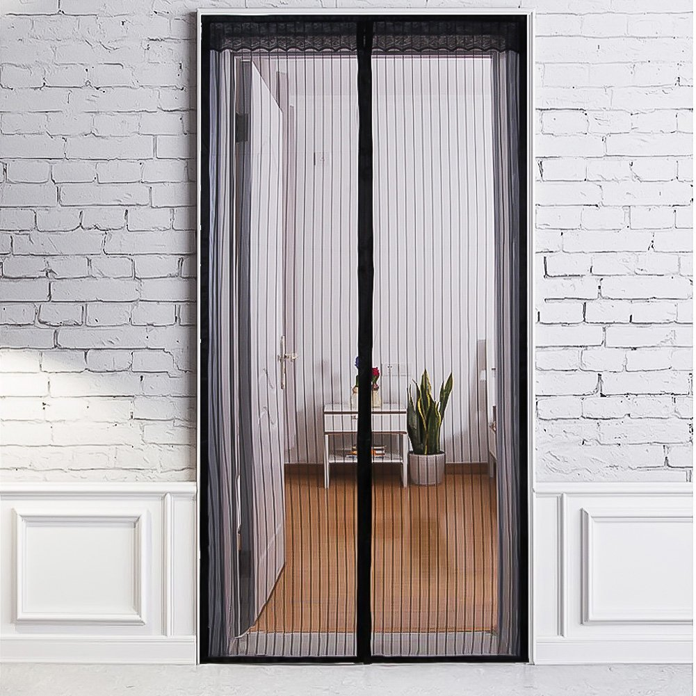 Coofel Magnetic Screen Door With Heavy Duty Mesh Curtain And Full