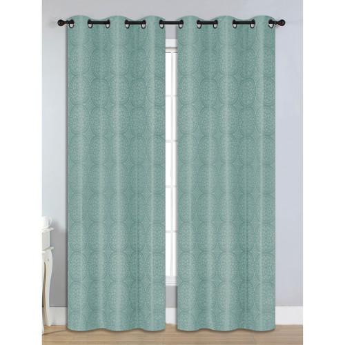 """Marcus Jacquard Room Darkening 76"""" x 84"""" Grommet Curtain Panel Pair"""
