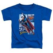 Jla - Superman Panels - Toddler Short Sleeve Shirt - 2T