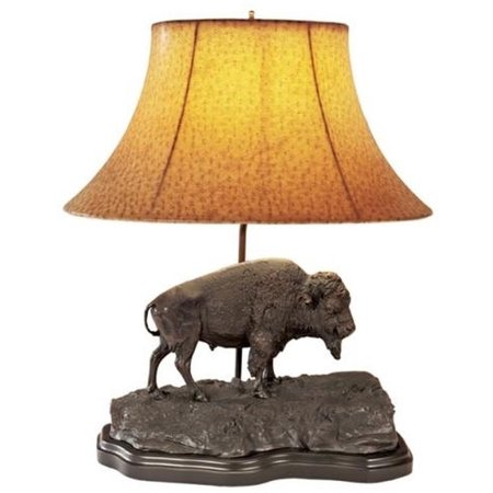 Sculpture Table Lamp AMERICAN WEST Southwestern Buffalo King of the Prair OK-406 ()