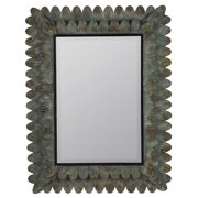Cooper Classics Chagall Mirror, Aged Brown and Black Metal with Sea Green Undertone - 40474