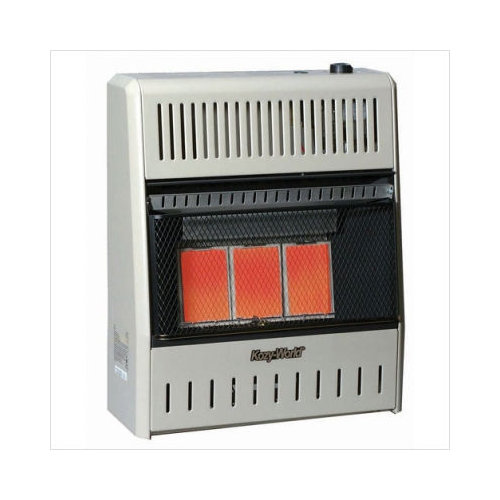 KozyWorld 15,000 BTU Infrared Wall Propane Space Heater with Thermostat