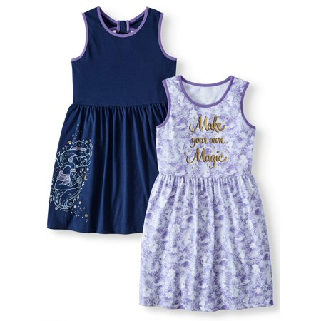2-Pack Sleeveless Play Dress With Bow Back (Little Girls & Big Girls)