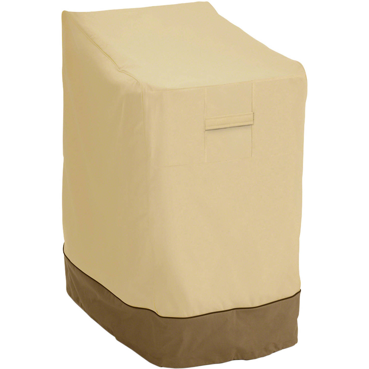 Classic Accessories Veranda Stackable Chairs Cover   Durable And Water  Resistant Outdoor Chair Cover, Pebble