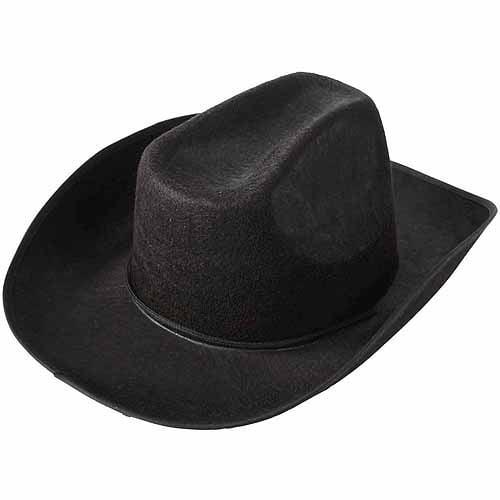 School Sprit Felt Cowboy Hat, Black
