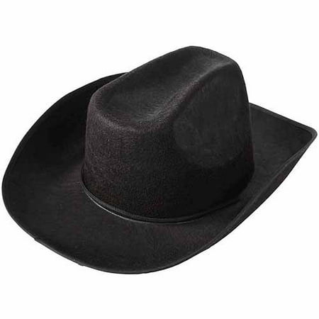 School Sprit Felt Cowboy Hat, Black