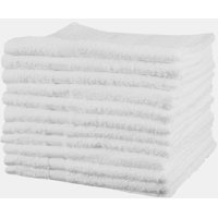 "GHP 48-Pcs Bright White 15""x25"" Absorbent Commercial Grade Cotton Hotel Hand Towels"