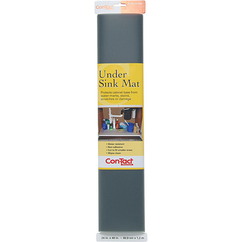 "Con-Tact Liner Under Sink Mat, 24"" x 4' Roll, Graphite"