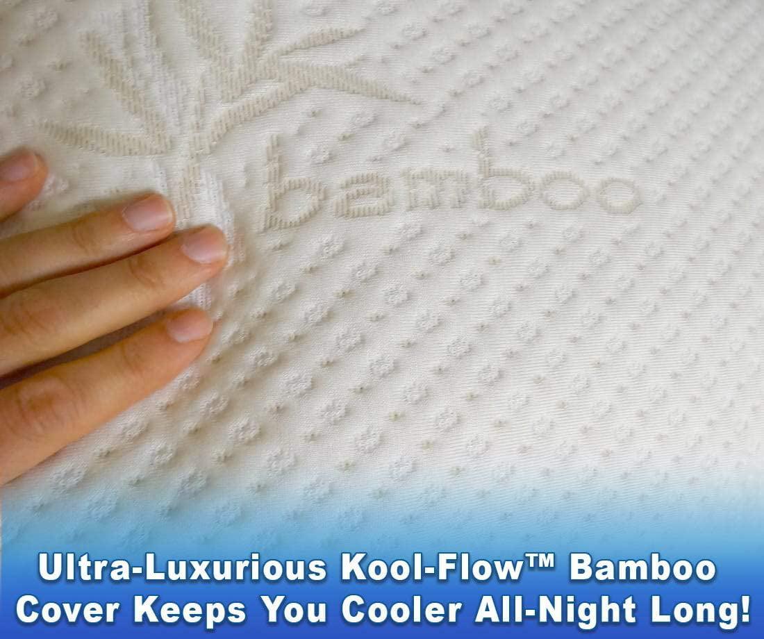 Snuggle Ultra-Luxury Bamboo Shredded Memory Foam Full Size Body Pillow...