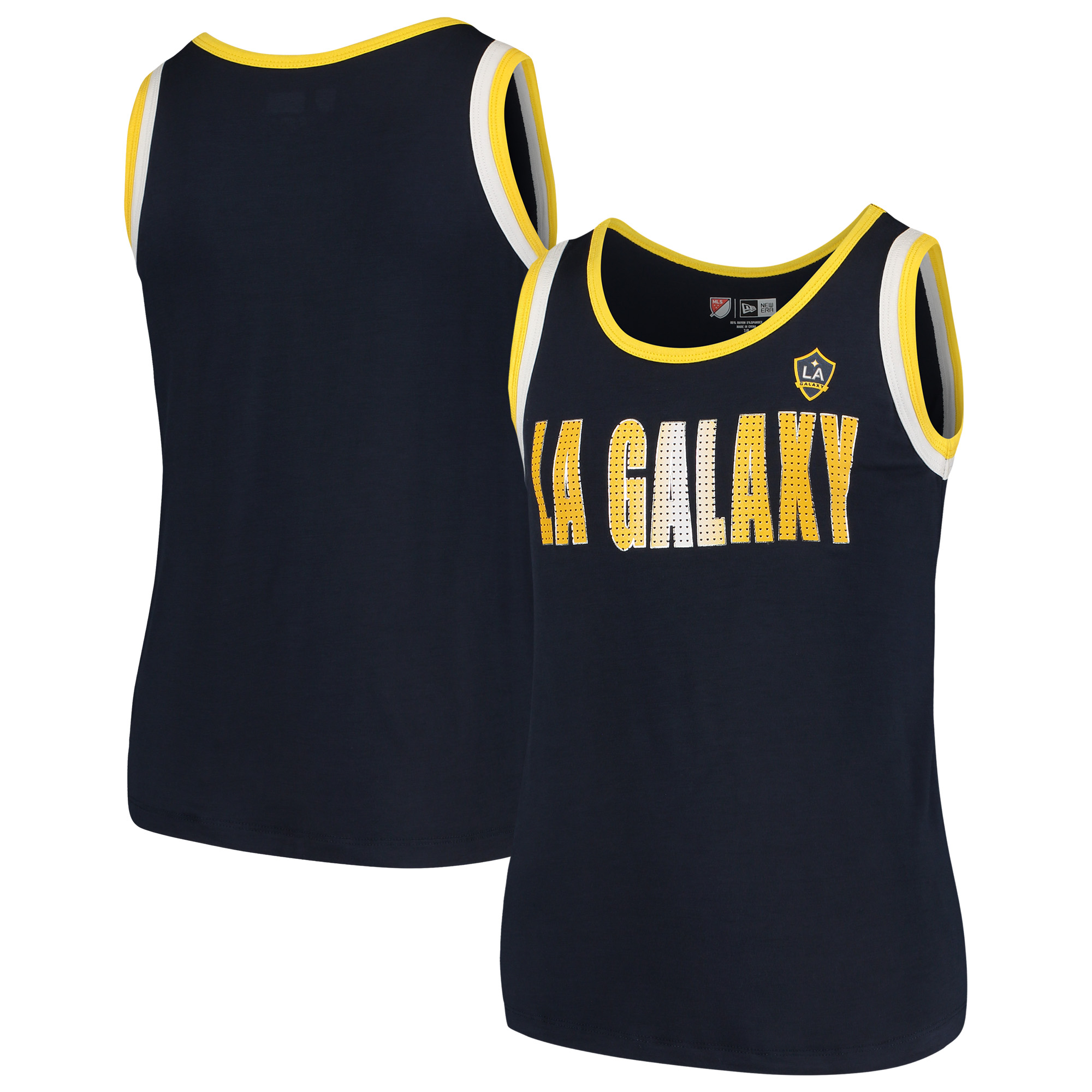 LA Galaxy 5th & Ocean by New Era Girls Youth Team Color Tank Top - Navy