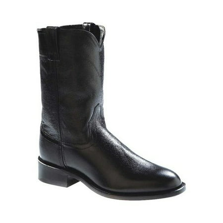 Leather Mens Roper (old west men's leather roper cowboy boot black 13 d(m))