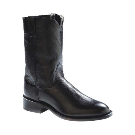 - old west men's leather roper cowboy boot black 13 d(m) us