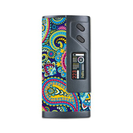 - Skins Decals For Sigelei Fuchai 213W Plus Vape Mod / Colorful Paisley Mix