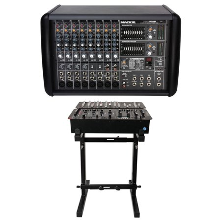 New Mackie PPM1008 8-Ch. 1600 Watt Powered Mixer, 32 Bit FX New PPM 1008+Stand Mackie Powered Mixer Bag