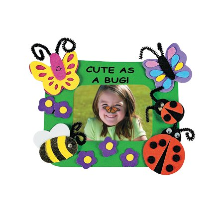 Cute As A Bug Picture Magnet Craft Kit - Craft Kits - 12 Pieces