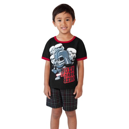 Toddler Boys Star Wars Darth Vader T-Shirt & Shorts 2-Piece Set