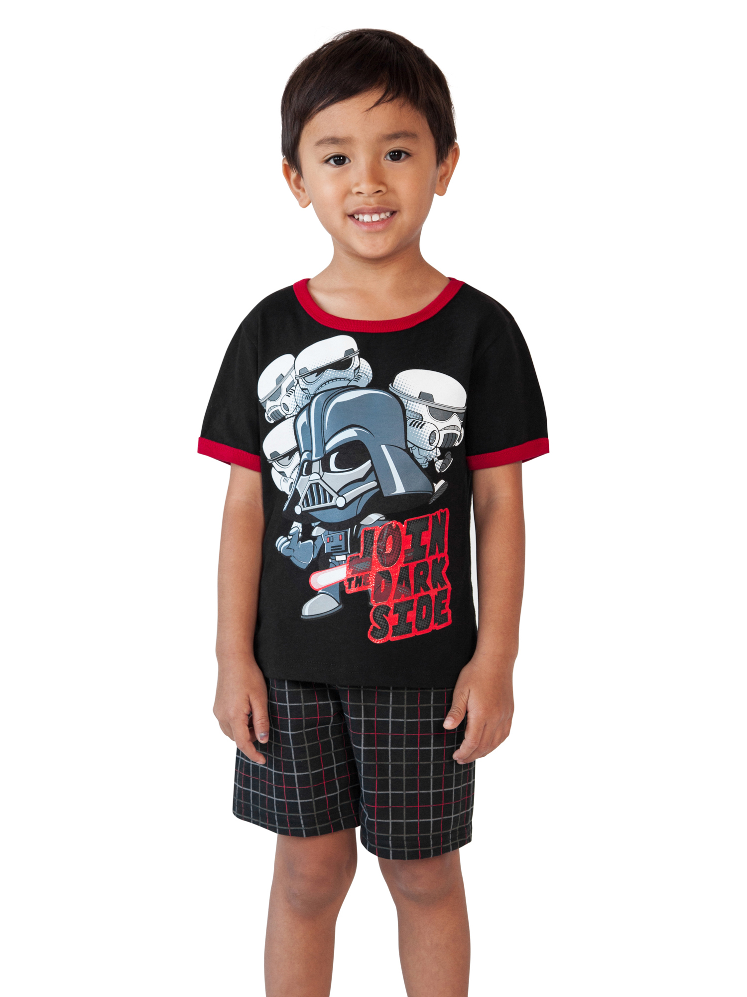 Toddler Boys Star Wars Darth Vader T-Shirt & Shorts 2-Piece Set